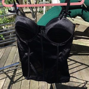 Other - Black corset with small bows
